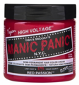 Manic Panic Semi-Permanent Hair Color Cream Red Passion 4 oz