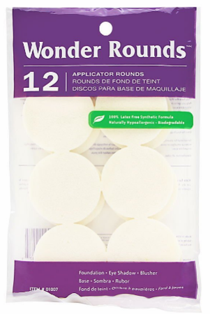 Wonder Rounds Cosmetic Puffs 1007 12 Count