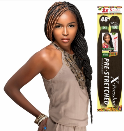 Sensationnel African Collection 2X X-Pression Pre-Stretched Braid 48