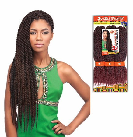 Sensationnel African Collection 3X Pre-Stretched Jamaican Twist 36