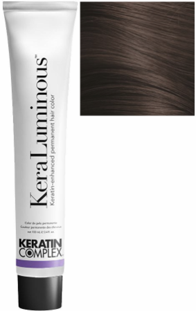 Keratin Complex KeraLuminous Keratin-Enhanced Permanent Hair Color 4.23/4VG Medium Violet Golden Brown 3.4 oz 2019