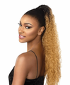 "Sensationnel Instant Pony French Wave 24"" Drawstring Ponytail Synthetic New 2019"