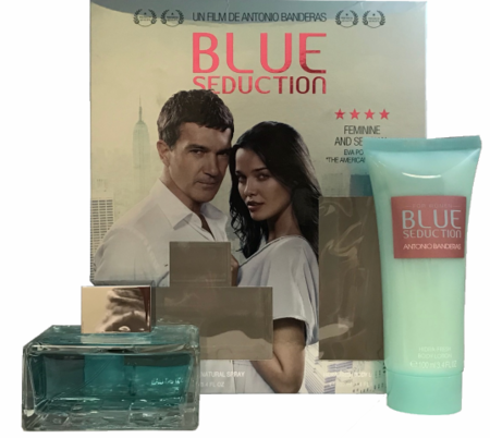 Blue Seduction by Antonia Banderas for Women 2 Piece Fragrance Gift Set 2018