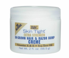 B & C Skin Tight In Growth Hair & Razor Bump Creme Extra Strength 2 oz