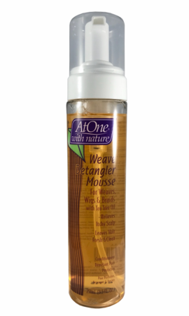 At One With Nature Weave Detangler Mousse 8.5 oz