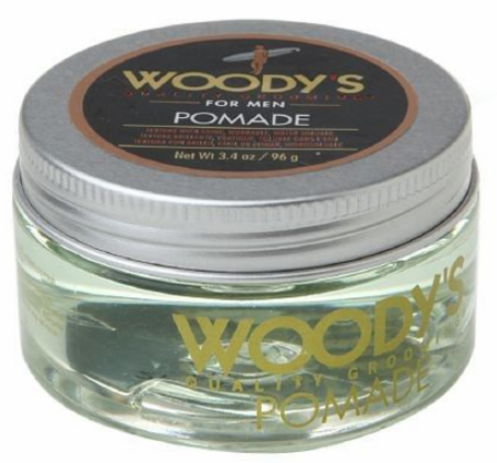 Woody's for Men Pomade Texture with Shine Water Soluble 3.4 oz