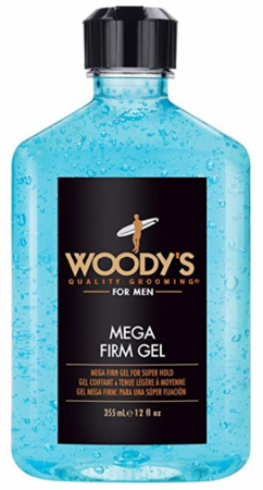 Woody's Mega Firm Super Hold Styling Gel 12 oz