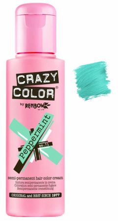 Crazy Color by Renbow Semi-Permanent Hair Color Cream Peppermint 5.07 oz