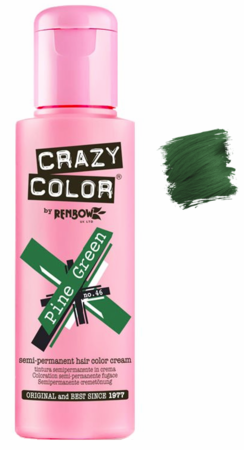 Crazy Color by Renbow Semi-Permanent Hair Color Cream Pine Green 5.07 oz