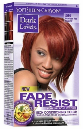 Dark and Lovely Fade Resist Hair Color Vivacious Red 394