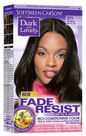 Dark and Lovely Fade Resist Hair Color Jet Black 371