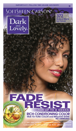 Dark and Lovely Fade Resist Hair Color Natural Black 372