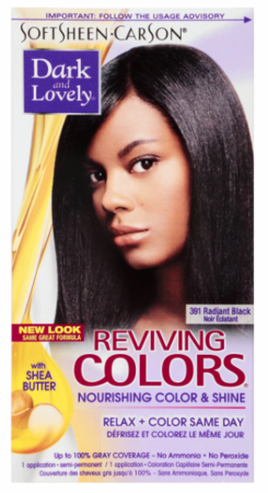 Dark And Lovely Reviving Colors Semi-Permanent Hair Color Radiant Black 391
