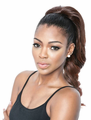 "Mane Concept Brown Sugar Super Curl 18"" Ponytail Human Hair Blend"