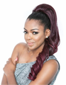 "Mane Concept Brown Sugar Super Curl 24"" Ponytail Human Hair Blend"