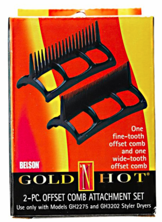 Gold N Hot 2 Piece Offset Comb Attachment GH2276