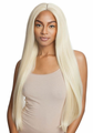 "Mane Concept Brown Sugar BSX05 Yaky Straight 30"" Lace Front Wig Human Hair Blend New 2019"