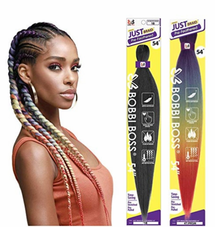 Bobbi Boss Pre-Feathered Just Braid 54 Synthetic