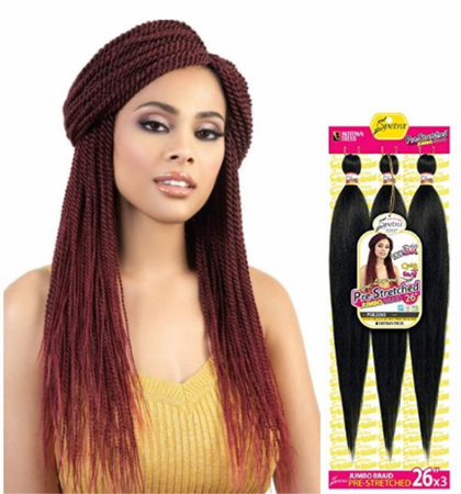Motown Tress Spetra Pre-Stretched Quick N Easy Crochet Braid 26