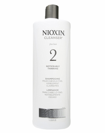 Nioxin 2 Cleanser for Fine Natural Noticeably Thinning Shampoo 33.8 oz