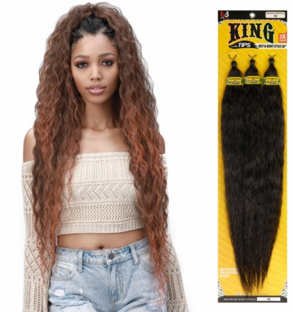 Bobbi Boss Pre Feathered 3X King Tips Wet & Wavy Braids Synthetic