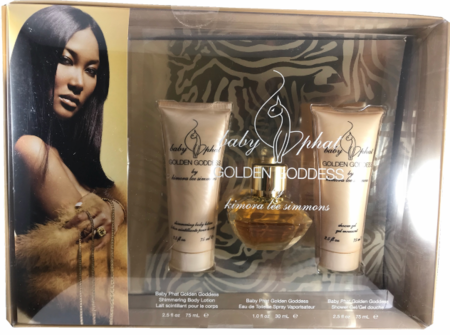 Baby Phat Golden Goddess By Kimora Lee Simmons For Women 3 Piece Fragrance Gift Set 2018