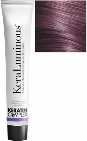 Keratin Complex KeraLuminous Keratin-Enhanced Permanent Hair Color .22/VV Intense Violet 3.4 oz 2019