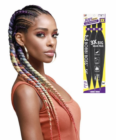Bobbi Boss Pre Feathered 3X Just Braid 54 Synthetic