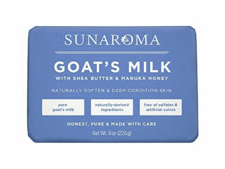 Sunaroma Goat's Milk With Shea Butter & Manuka Honey Soap 8 oz