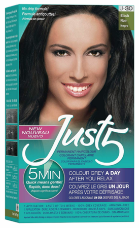 Just 5 5-Min for Women Permanent Hair Color Black
