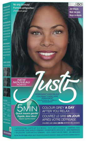 Just 5 5-Min for Women Permanent Hair Color Jet Black