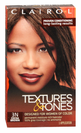 Clairol Textures & Tones Permanent Creme Hair Color 3N Cocoa Brown