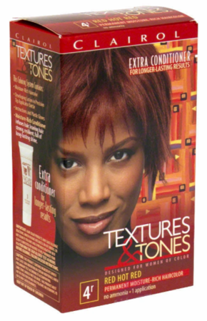 Clairol Textures & Tones Permanent Creme Hair Color 4R Red Hot Red
