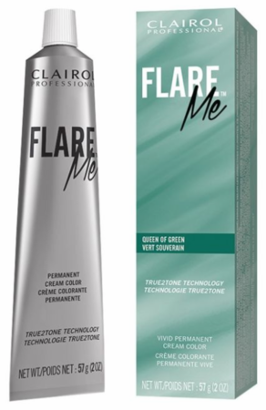 Clairol Flare Me Permanent Cream Hair Color Queen of Green 2 oz