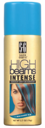 High Beams Intense Temporary Spray On Hair Color 23 Head Bangin Blue 2.7 oz