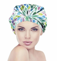 Betty Dain Turban Shower Cap Aqua Stones XL 5290
