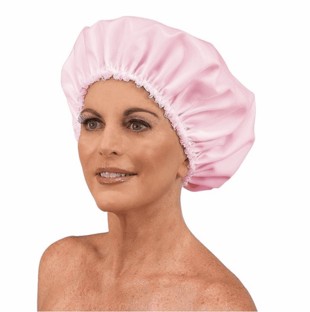 Betty Dain Satinette Sleep Cap Pink 426 DISC