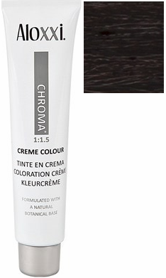 Aloxxi Chroma Permanent Creme Colour 4NN My Caramella 2 oz 2019