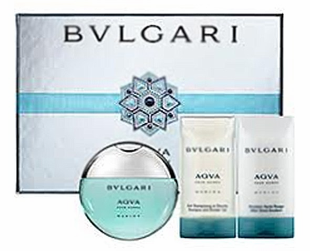 Aqva Marine by Bvlgari For Men 3 Piece Fragrance Gift Set 2018