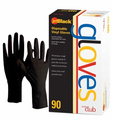 Product Club Jet Black Medium Disposable Vinyl Gloves 90 Ct.