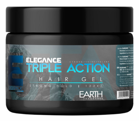 Elegance Ultra Triple Action Styling Hair Gel Blue Strong Hold 17.15oz
