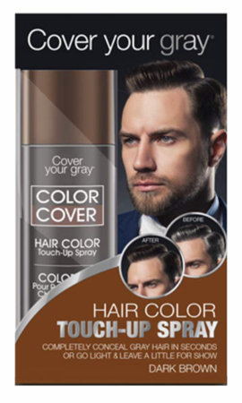 Cover Your Gray For Men Color Cover Hair Color Touch-Up Spray Dark Brown 2 oz