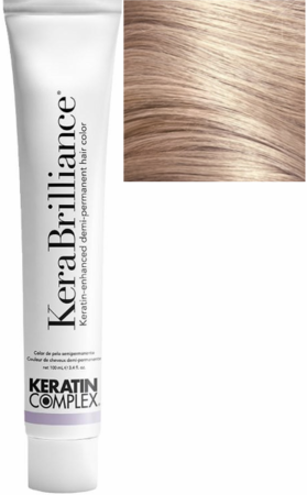 Keratin Complex KeraBrilliance Keratin-Enhanced Demi-Permanent Hair Color 9.32/9GV Lightest Beige Blonde 3.4 oz 2019