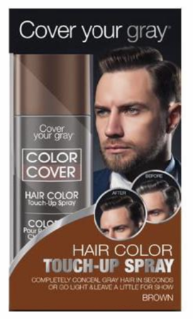 Cover Your Gray For Men Color Cover Hair Color Touch-Up Spray Brown 2 oz