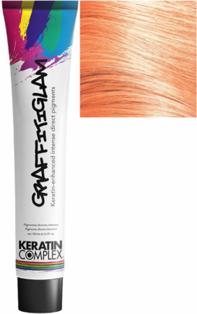 Keratin Complex GraffitiGlam Keratin-Enhanced Intense Direct Pigments Hair Color Sunrise Peach 3.4 oz 2019