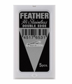Feather Hi Stainless Double Edge 5 Blades