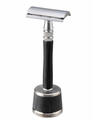 Feather Wood Handle Stainless Double Edge Razor W/Stainless Steel And Wood Stand WS-D2S
