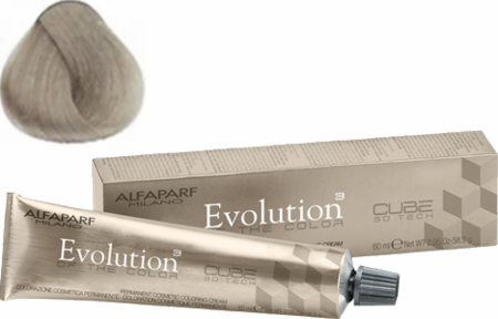 Alfaparf Milano Evolution of the Color Cube 3D Tech Hair Color 10.1 Lightest Ash Blonde 2 oz 2019