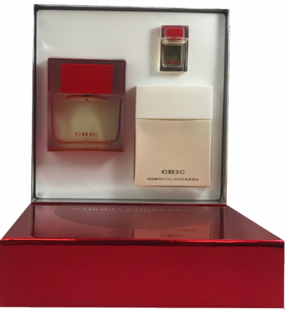 Chic by Carolina Herrera for Women 3 Piece Fragrance Gift Set 2018