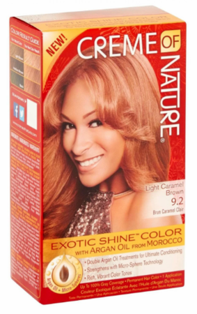 Creme Of Nature Exotic Shine Hair Color 9.2 Light Caramel Brown